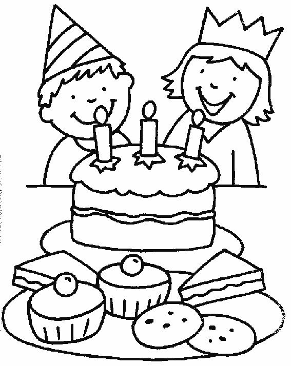 Birthday Cake Coloring Page Printable 001