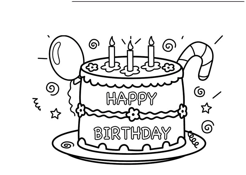 Birthday Coloring Pages For Kids2 001