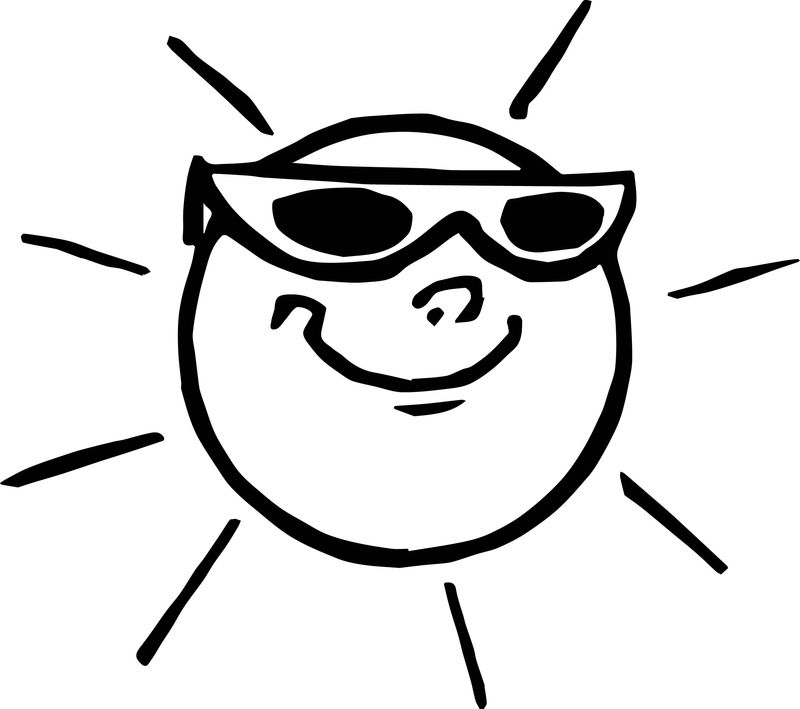 Black Glasses Summer Coloring Page
