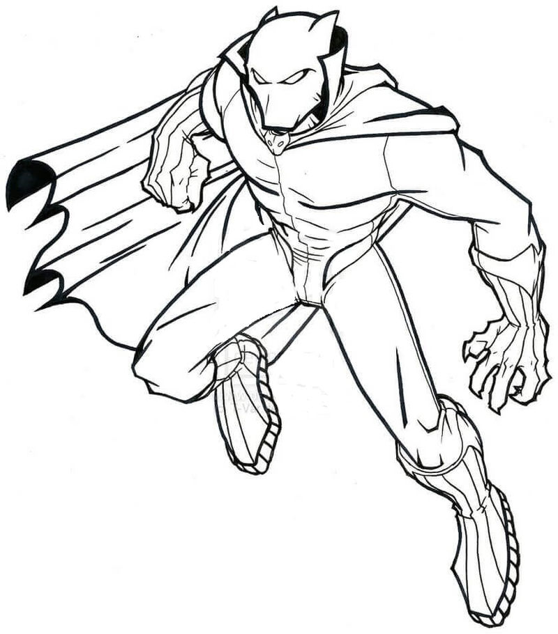 Black Panther Avengers Coloring Pages