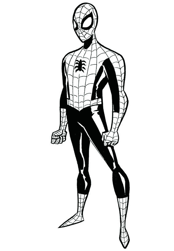 Black Suit Spiderman Coloring Pages