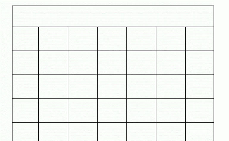 Blank Calendar Pages 1 002
