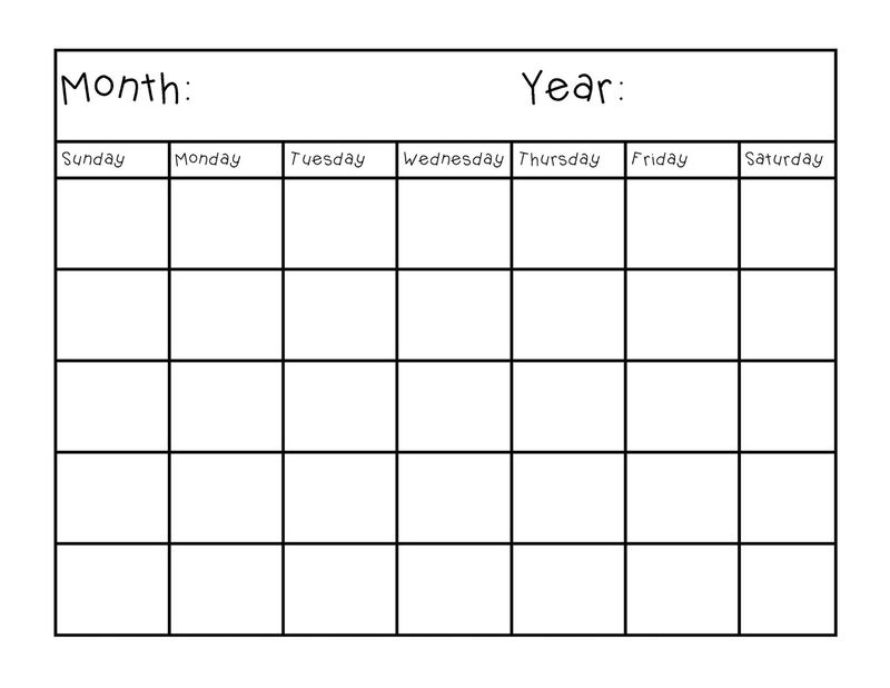 Blank Calendar Pages Full
