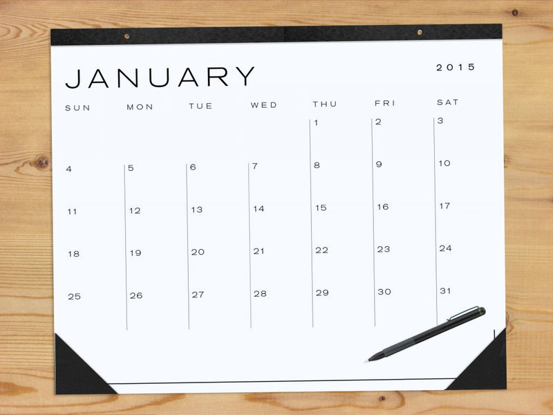 Blank Calendar Pages January 002