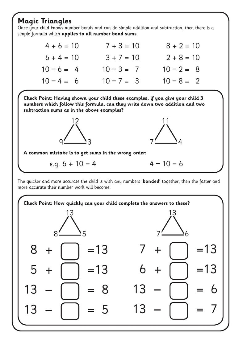 Blank Fact Family Worksheets Practice