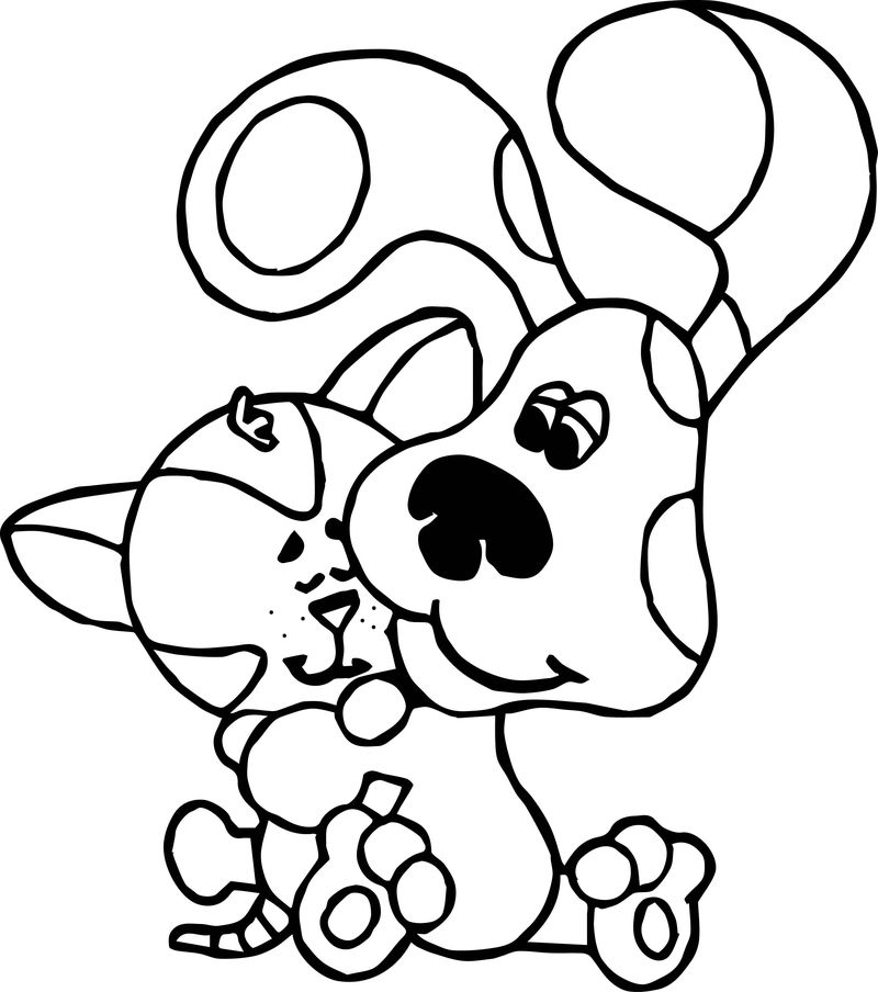 Blues Clues Dog And Cat Coloring Page