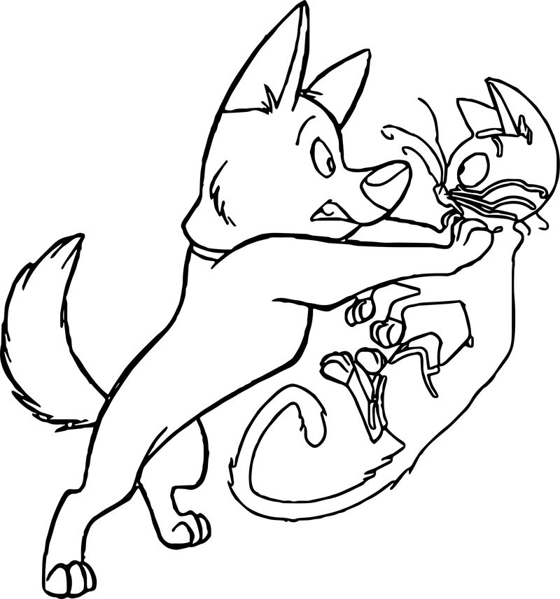 Bolt Dog Cat Where Coloring Pages