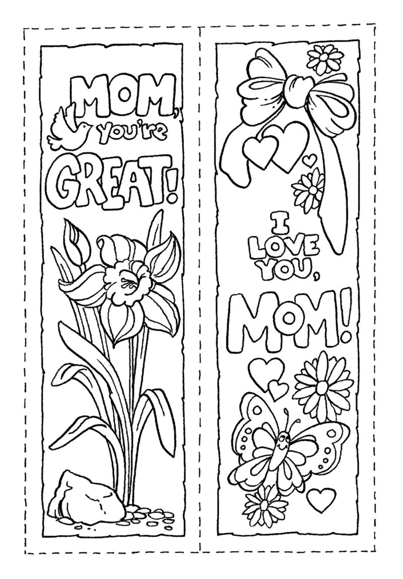Bookmark Template Mothers Day