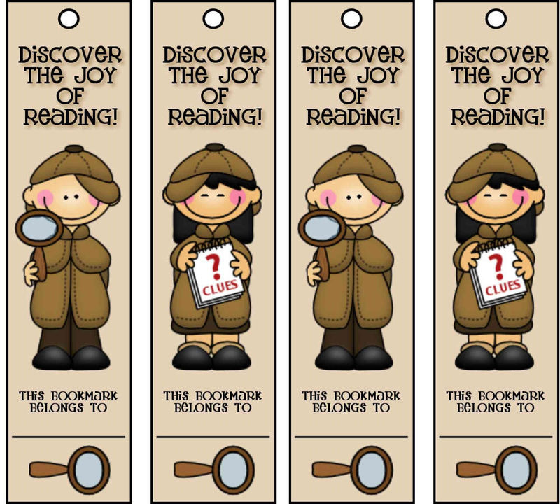 Bookmarks About Reading Detective 001