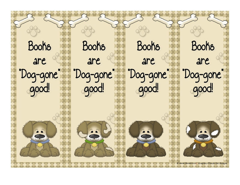Bookmarks About Reading Dog 001