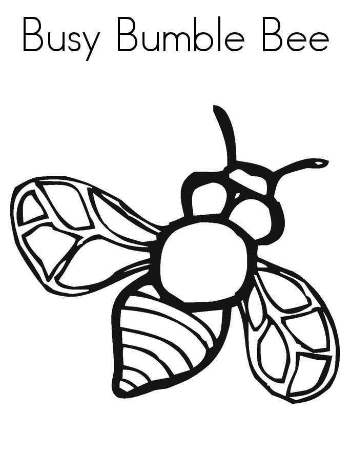 Bumble Bee Coloring Pages Printable