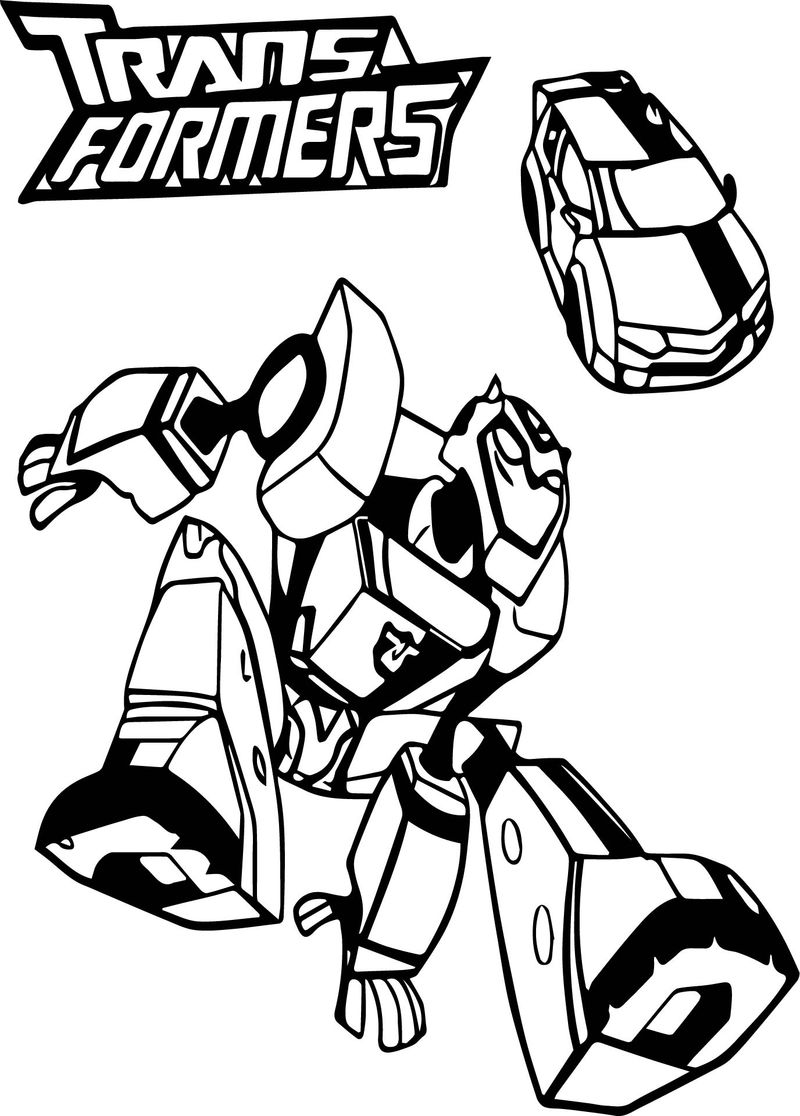 Bumblebee Car Transformers Coloring Page