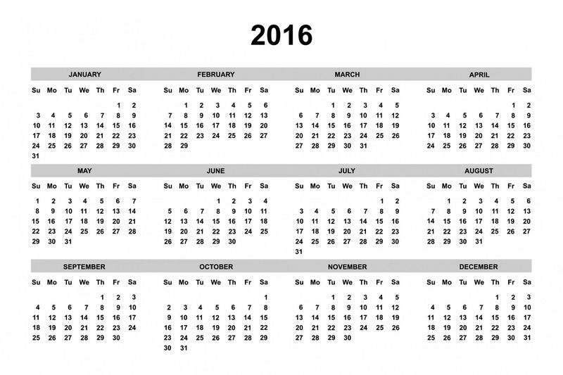 Calendar 2016 One Page 001
