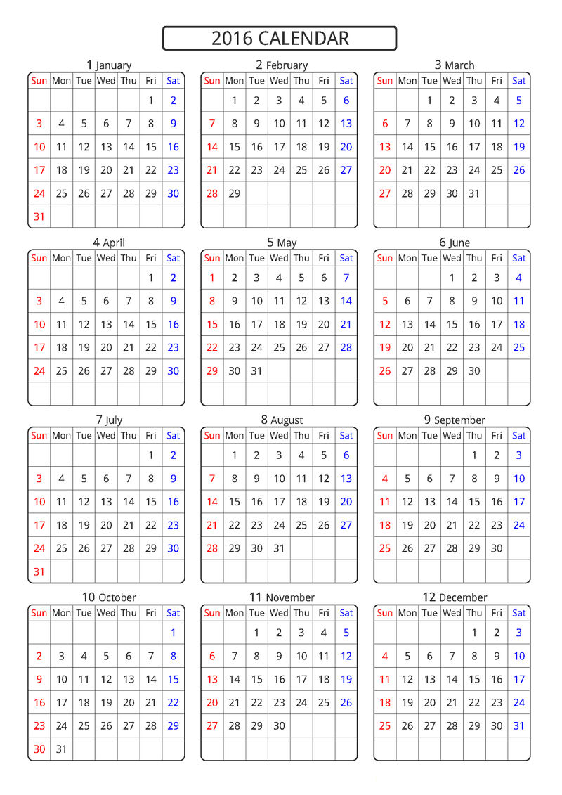 Calendar Printable Yearly