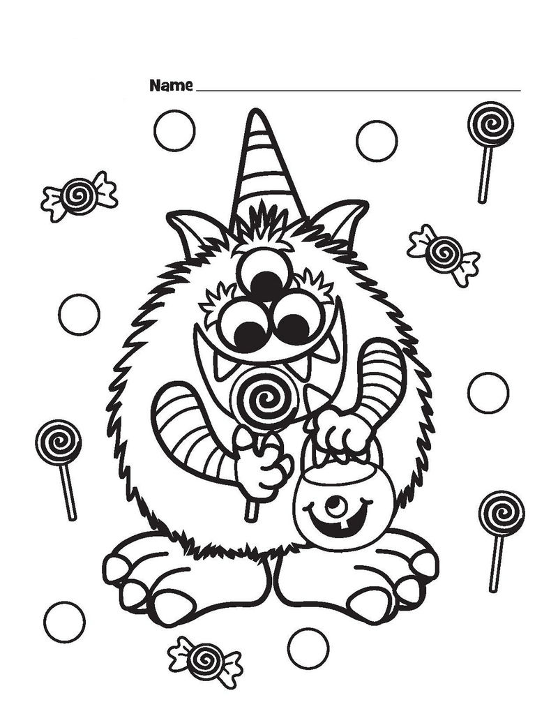 Candyland Coloring Pages Halloween
