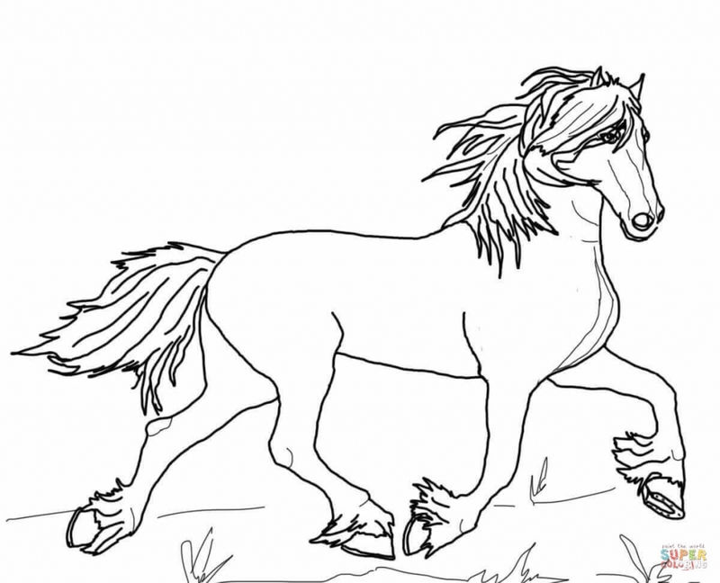 Cantoring Horse Coloring Pages