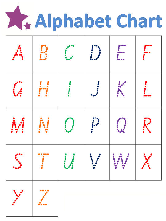 Capital Alphabet Letters Tracing 001