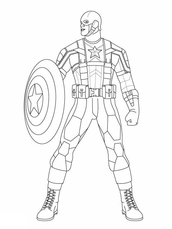 Capn Marvel Coloring Pages 001