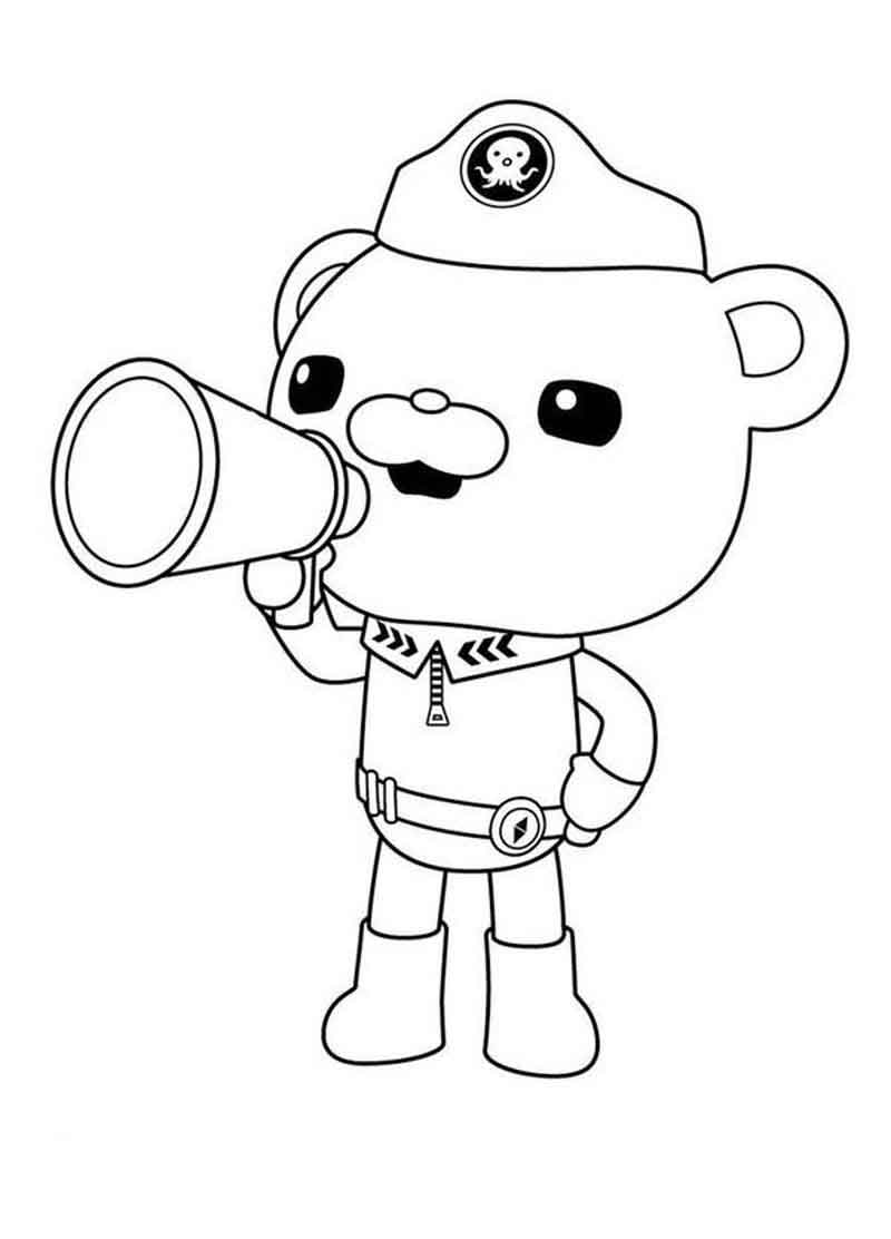 Capt. Barnacles Announcement Octonauts Coloring Pages