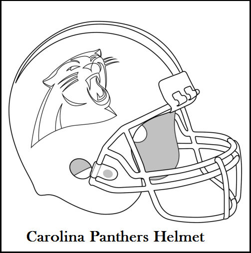 Carolina Panthers Helmet Coloring And Drawing Page