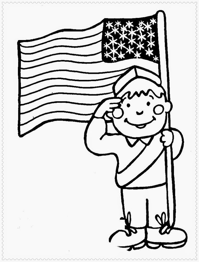 Celebrate Presidents Day Coloring Page