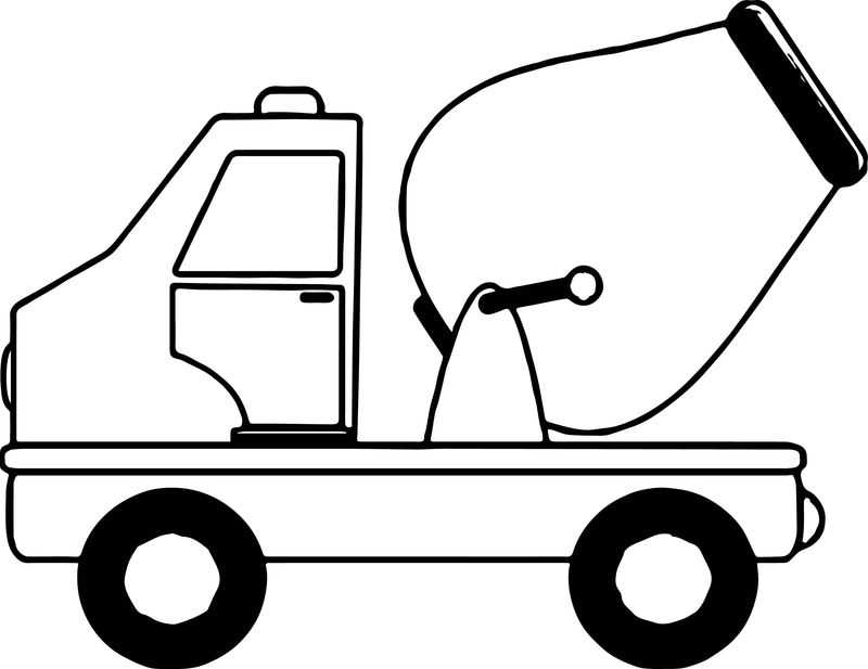 Cement Truck Mini Coloring Page