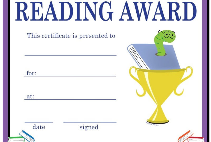 Certificate For Good Reading Page 001