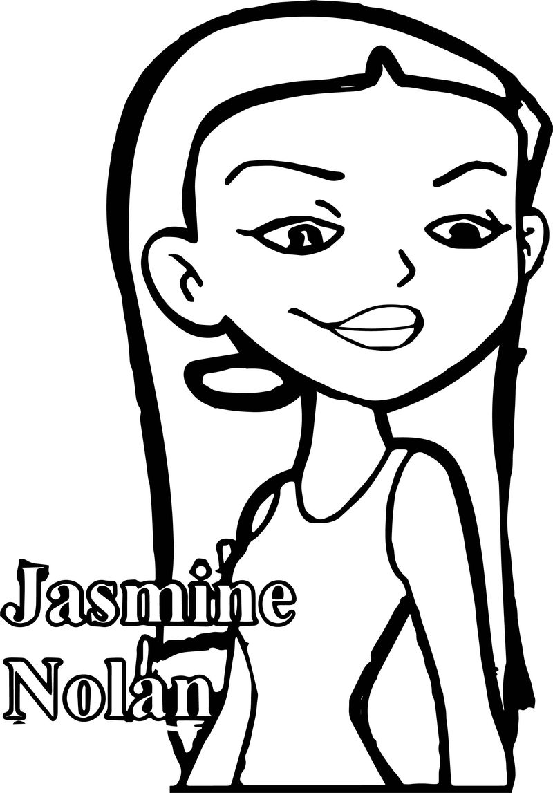 Character Jasmine Nolan American Dragon Jake Long Season Coloring Page Jpg