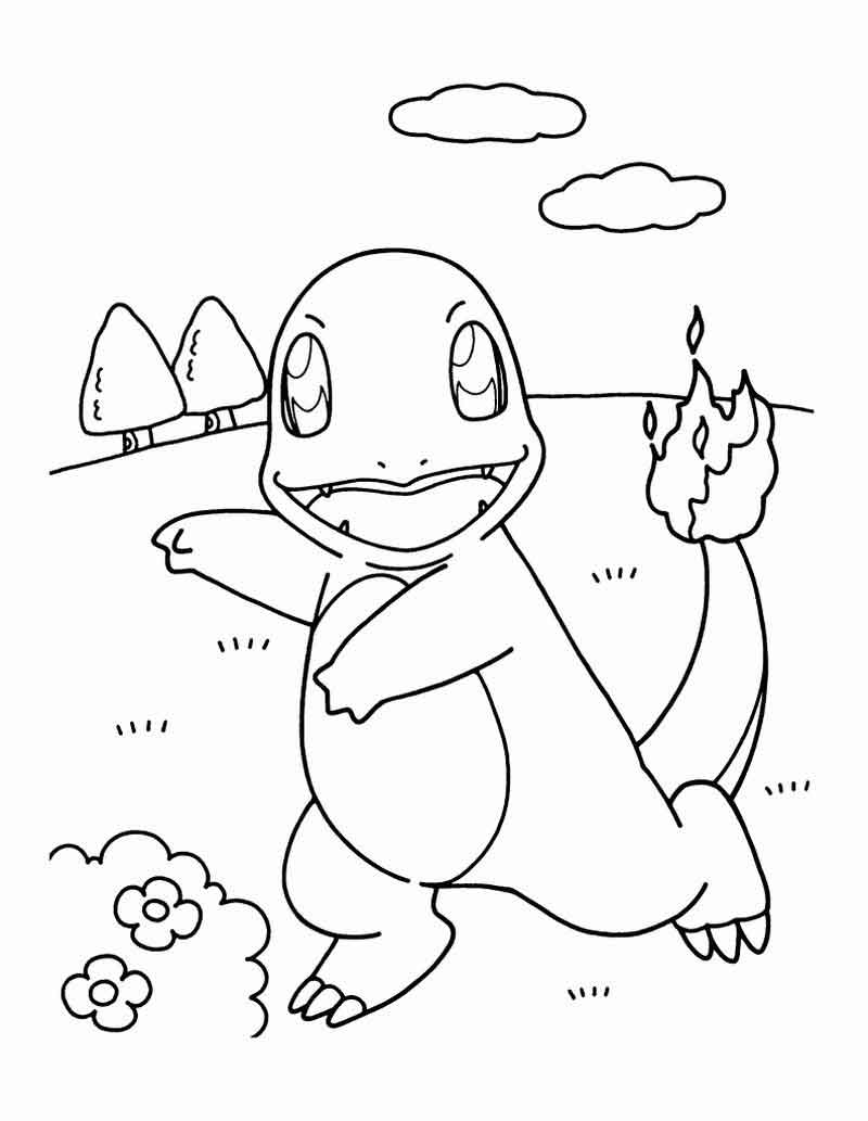 Charmander Pokemon Coloring Pages