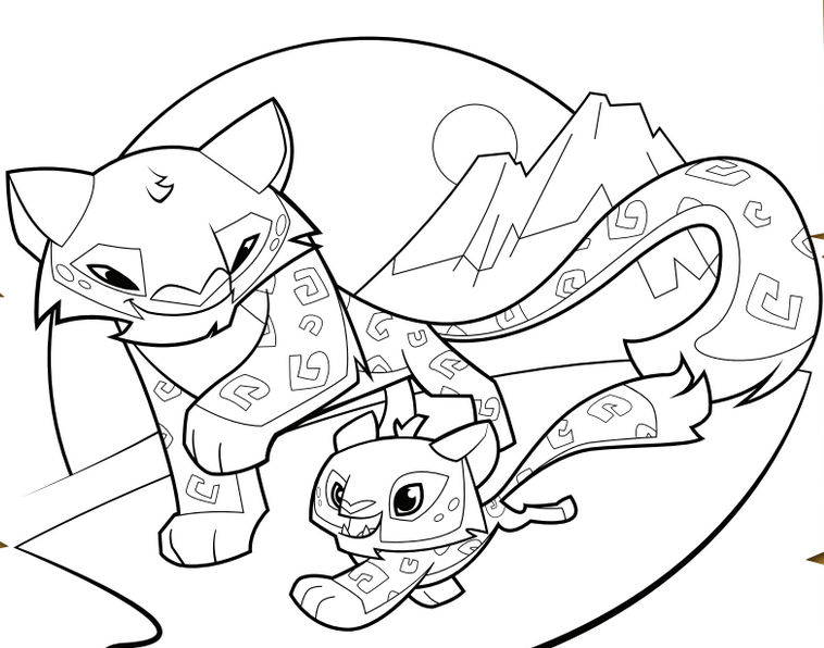 Cheetah Animal Jam Coloring Pages