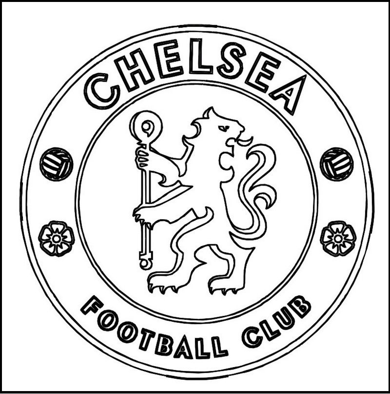 Chelsea Football Club Coloring Line Art