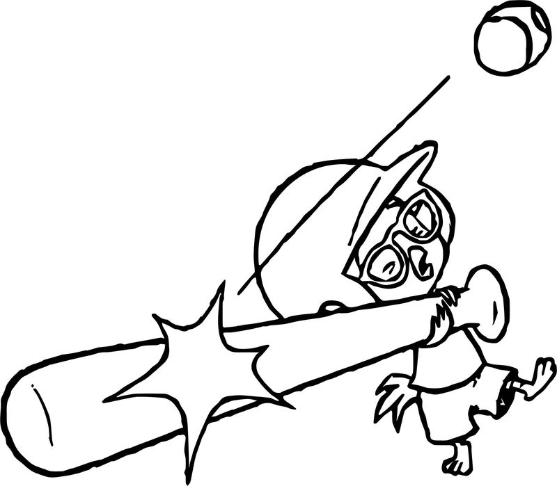 Chicken Little Baseball Coloring Page