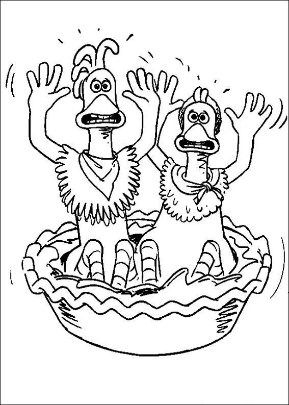 Chicken Run Coloring And Drawing Sheet