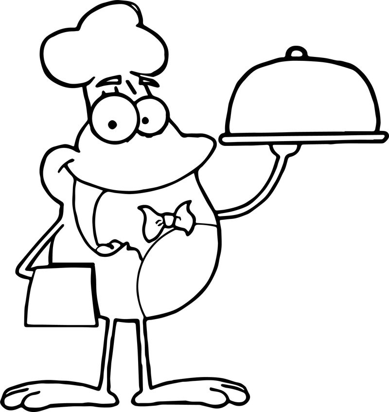 Chief Frog Coloring Page