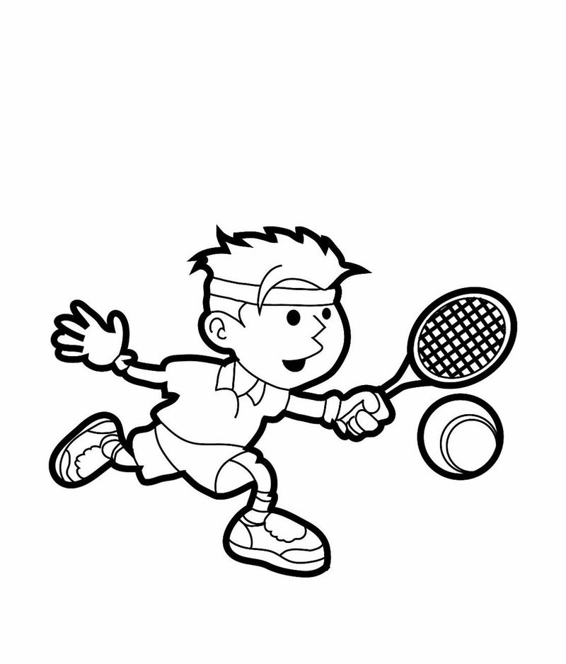 Children coloring pages sport
