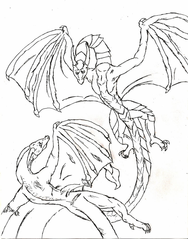 Chinese Dragon Coloring Pages 001