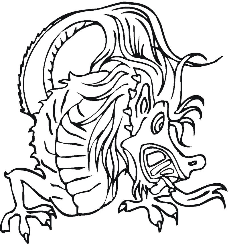 Chinese Dragon Coloring Pages 001 1