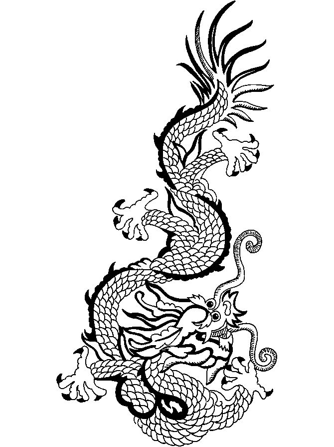 Chinese Dragon Coloring Pages Pictures 001