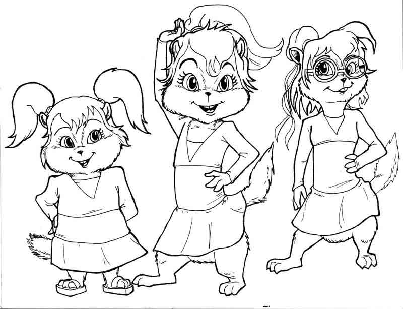 Chipettes Coloring Page