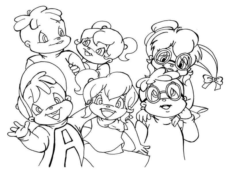 Chipmunks And Chipettes Coloring Pages