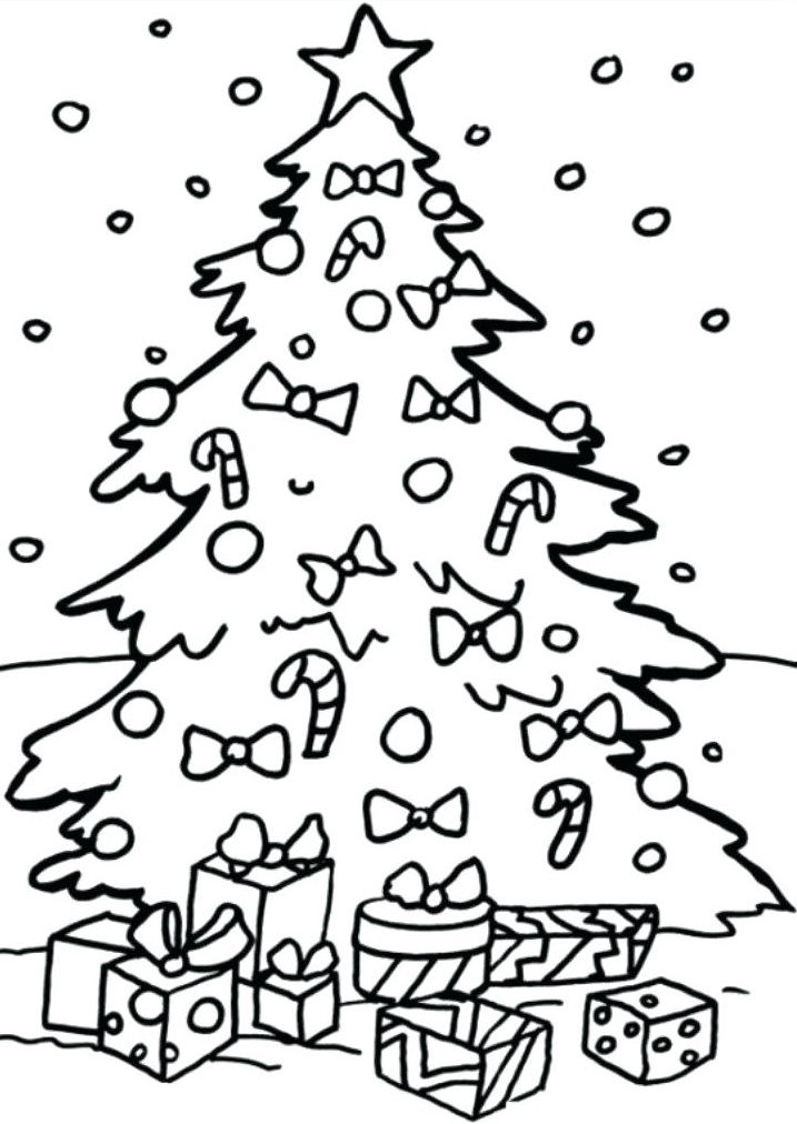 Chistmas Tree December Coloring Pages