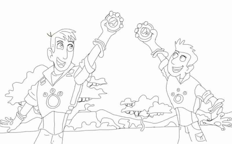 Chris And Martin Wild Kratts Coloring Pages