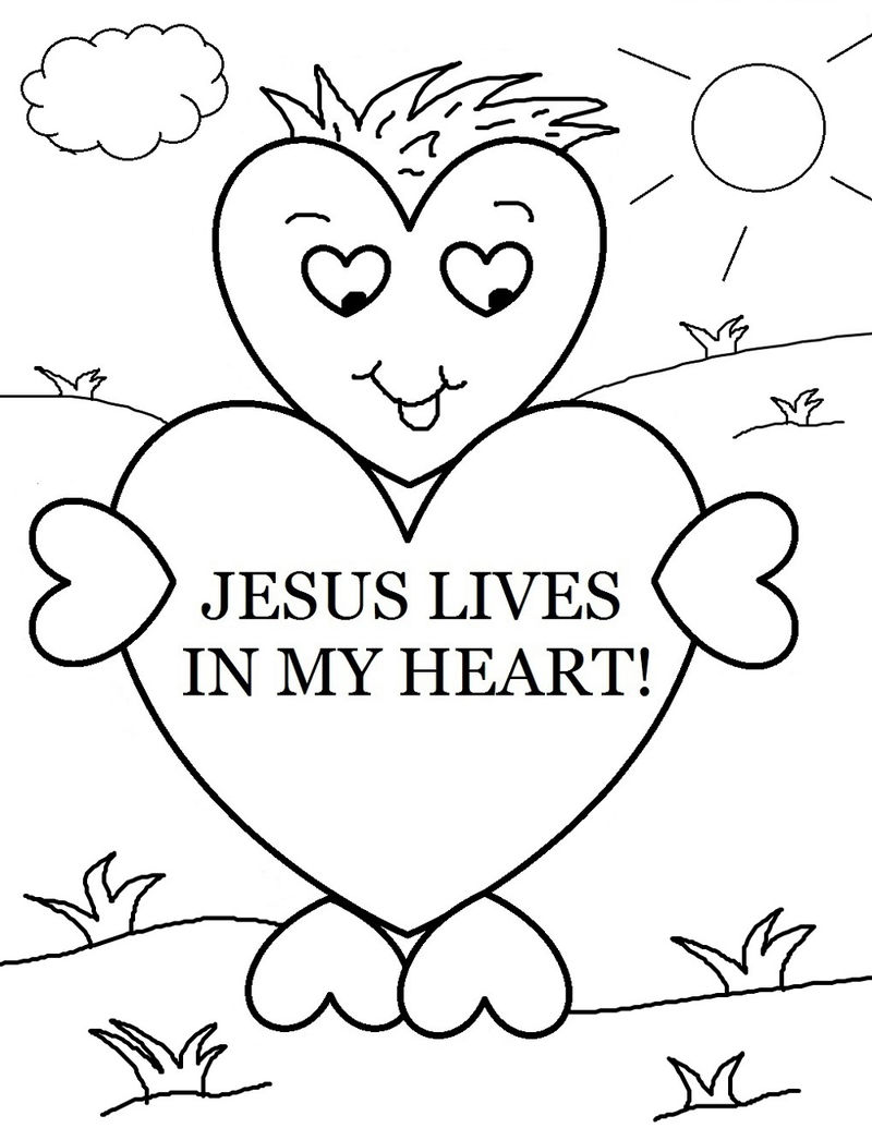 Christian Coloring Pages Preschool 001