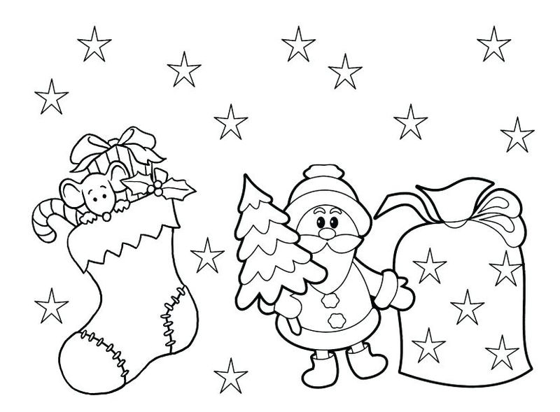 Christmas Coloring Page For Preschoolers