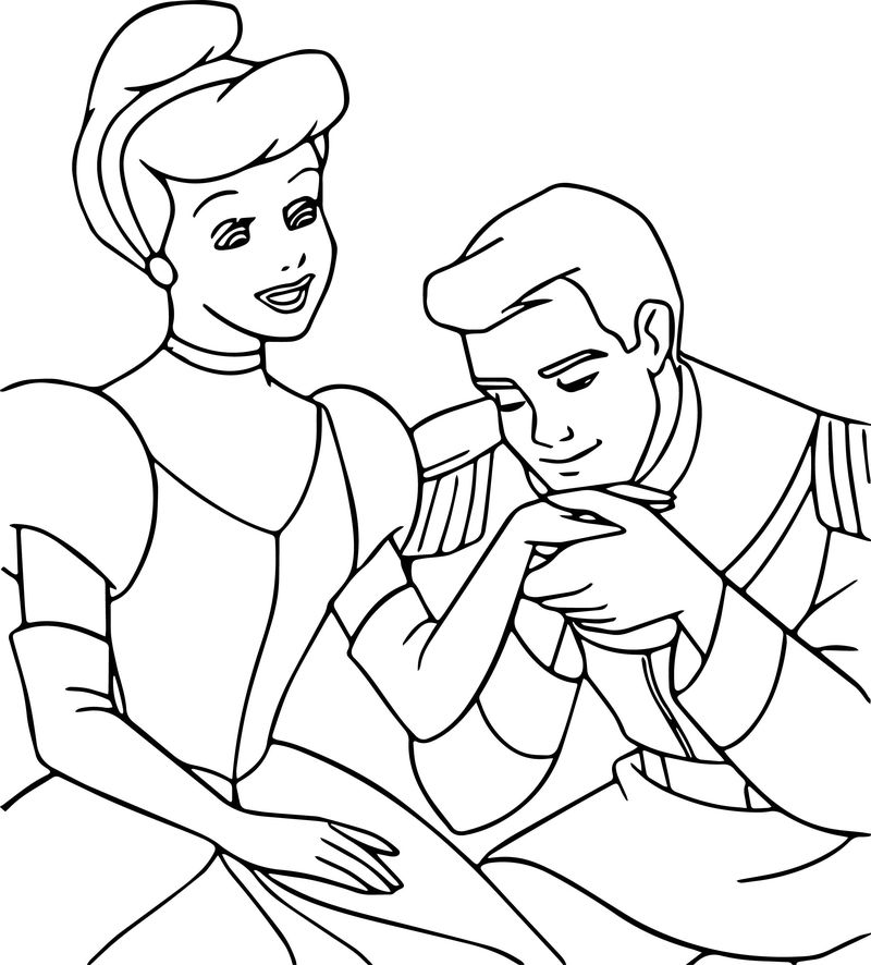 Cinderella And Prince Charming Coloring Pages 22