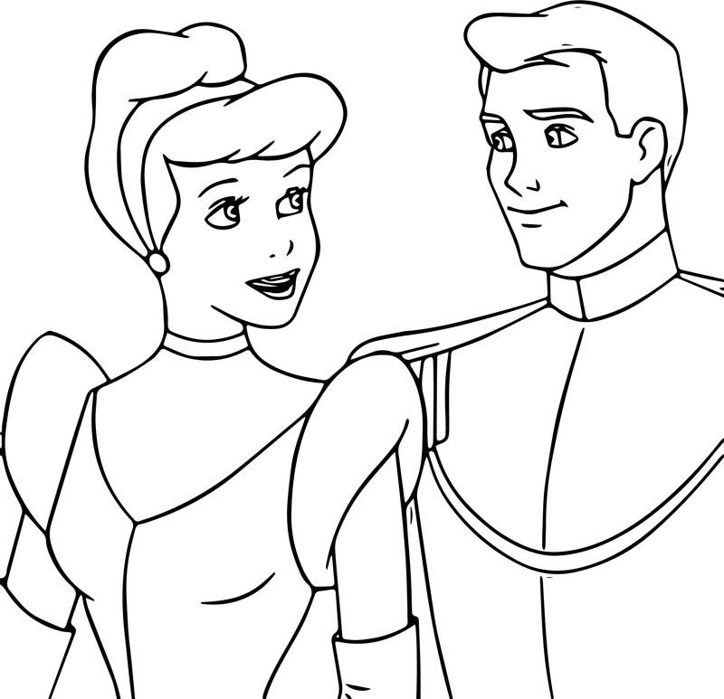 Cinderella And Prince Charming Coloring Pages 23