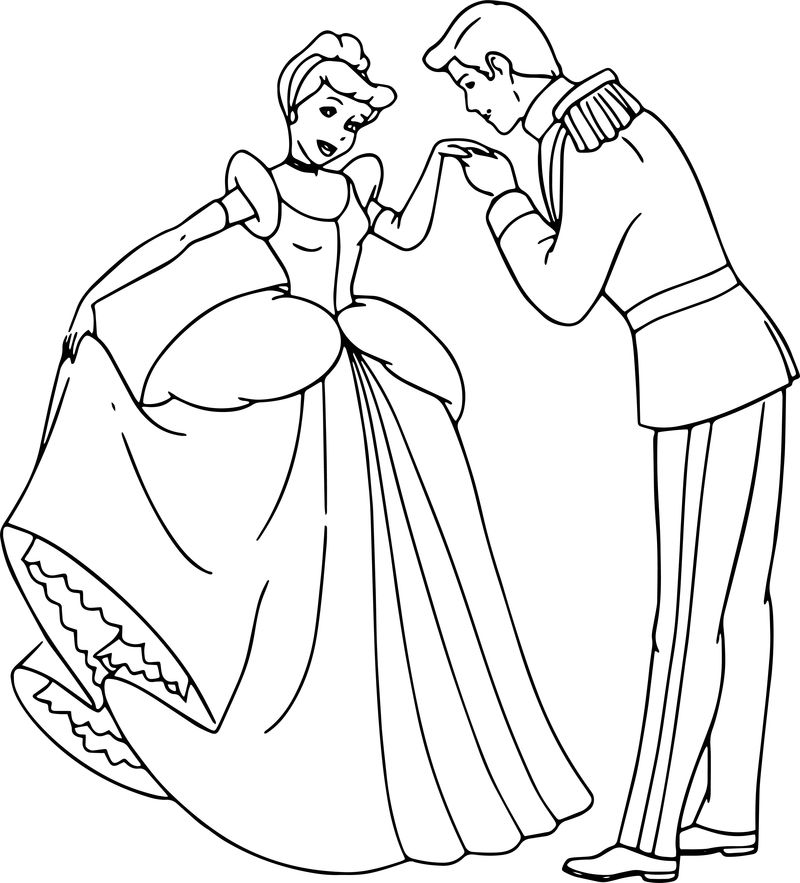 Cinderella And Prince Charming Coloring Pages 28