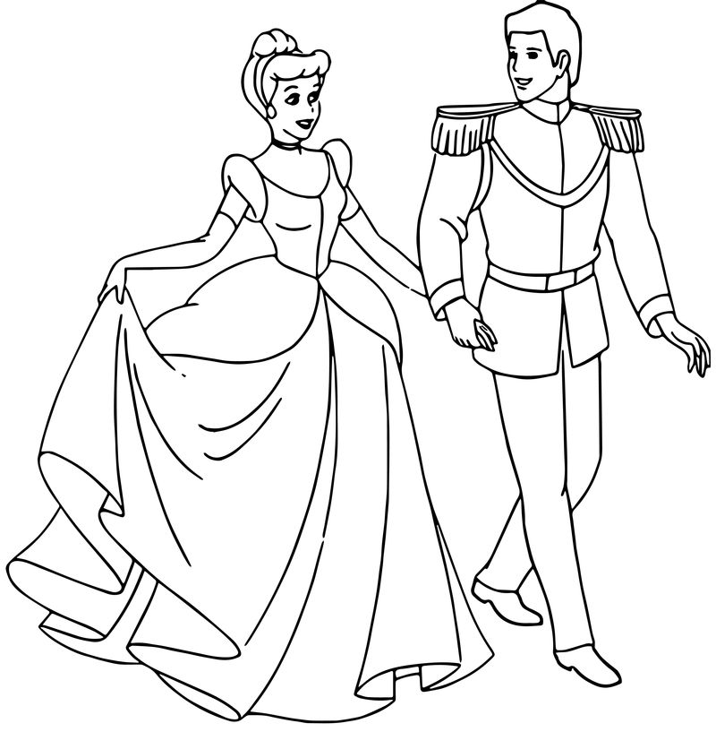 Cinderella And Prince Charming Coloring Pages 33