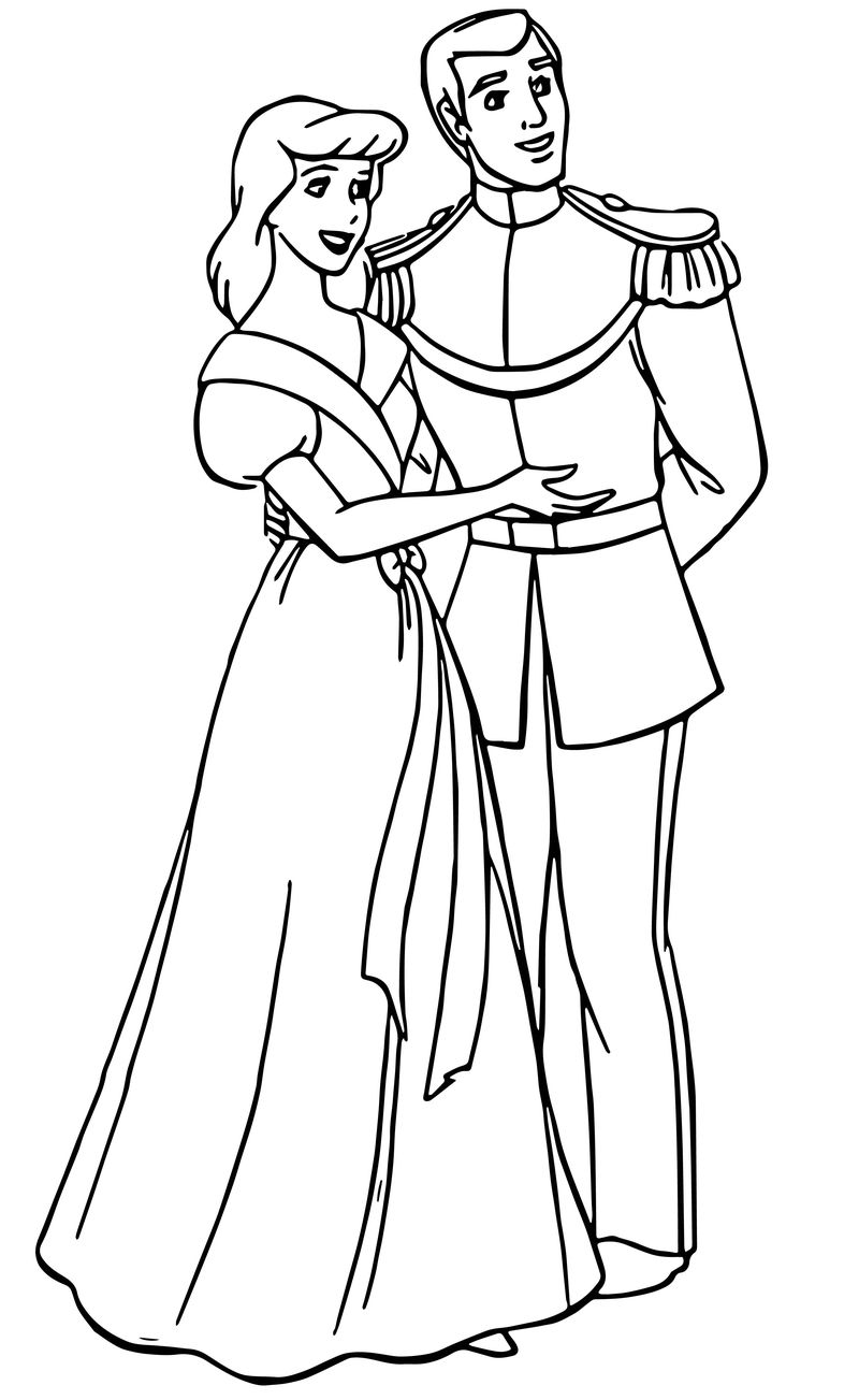 Cinderella And Prince Charming Coloring Pages 34