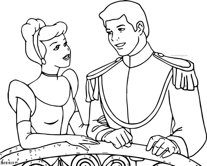 Cinderella And Prince Charming Talking Coloring Pages